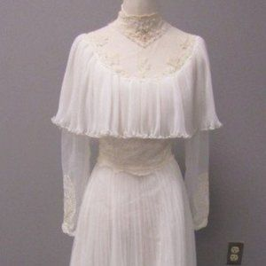 60's Edythe Vincent Alfred Angelo Wedding Dress